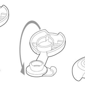 Protezione in gomma bottoni Q-SNAP bianca
